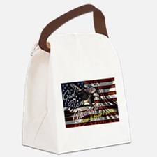 Patriotic T-shirt Canvas Lunch Bag