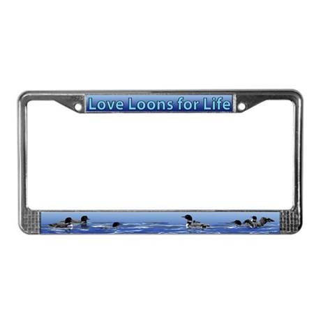Love Loons for Life License Plate Frame
