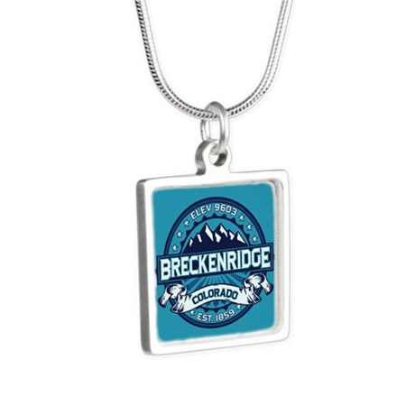 Breckenridge Ice Silver Square Necklace
