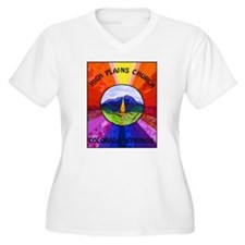 HPCUU Mountains Quilt Plus Size T-Shirt