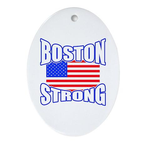 Boston Strong patriotism Ornament (Oval)
