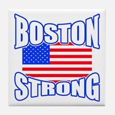 Boston Strong patriotism Tile Coaster