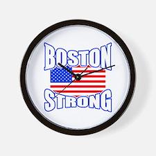Boston Strong patriotism Wall Clock