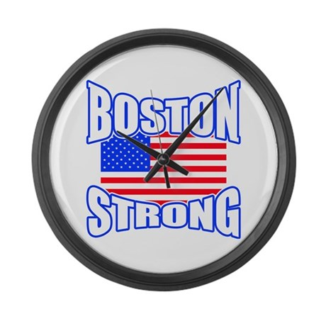Boston Strong patriotism Large Wall Clock