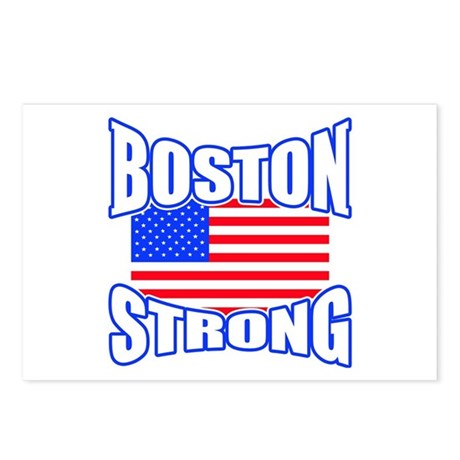 Boston Strong patriotism Postcards (Package of 8)