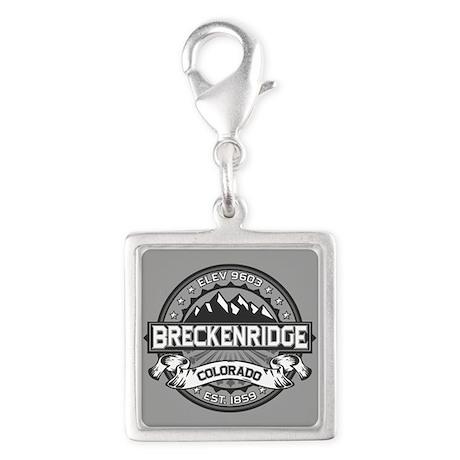 Breckenridge Grey Silver Square Charm