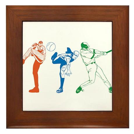 Baseball Framed Tile