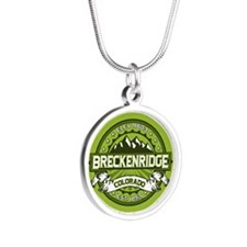 Breckenridge Green Silver Round Necklace