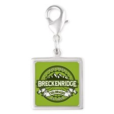 Breckenridge Green Silver Square Charm