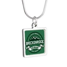 Breckenridge Forest Silver Square Necklace