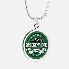 Breckenridge Forest Silver Round Necklace
