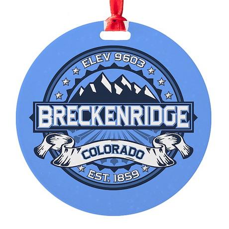 Breckenridge Blue Round Ornament