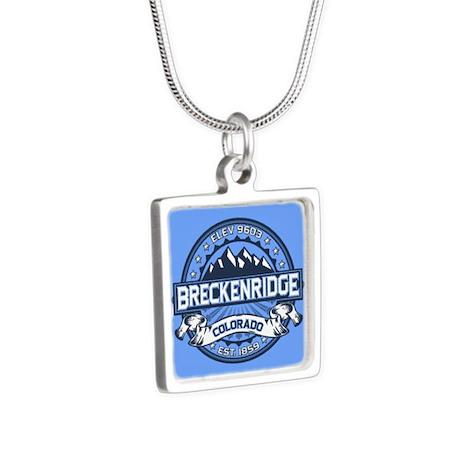 Breckenridge Blue Silver Square Necklace