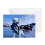 The Red Nosed Pitbull Greeting Cards (Pk of 10)
