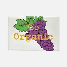 Go Organic Rectangle Magnet