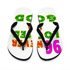 96 Birthday Designs Flip Flops