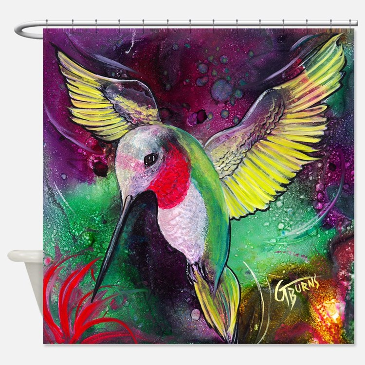Hummingbird bathroom accessories decor cafepress for Hummingbird decor