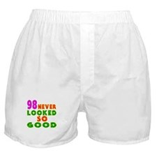 98 Birthday Designs Boxer Shorts