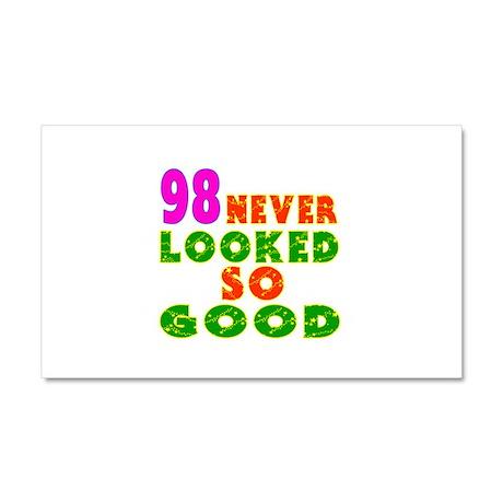 98 Birthday Designs Car Magnet 20 x 12