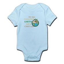 All Life Comes From Earth. Not a GMO Lab Body Suit