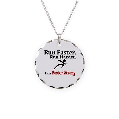 Run Faster Run Harder Necklace Circle Charm