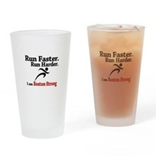 Run Faster Run Harder Drinking Glass