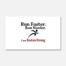 Run Faster Run Harder Car Magnet 20 x 12