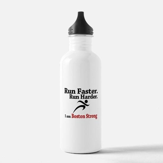 Run Faster Run Harder Water Bottle