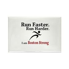 Run Faster Run Harder Rectangle Magnet