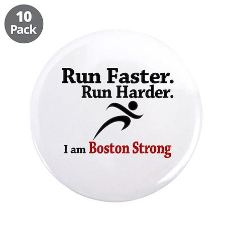 """Run Faster Run Harder 3.5"""" Button (10 pack)"""