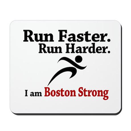 Run Faster Run Harder Mousepad