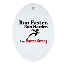 Run Faster Run Harder Ornament (Oval)