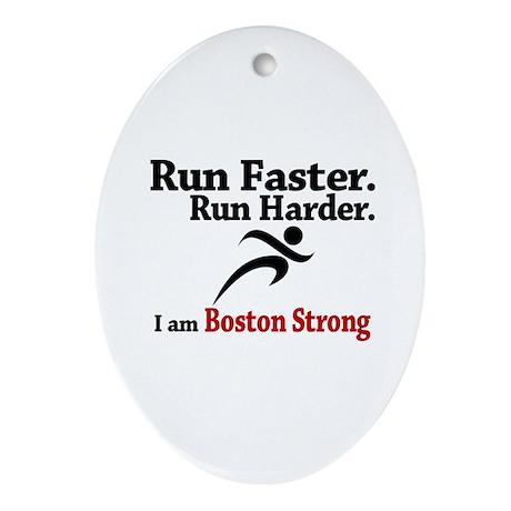 Run Faster Run Harder Ornament (Oval)