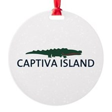 Captiva Island - Alligator Design. Ornament