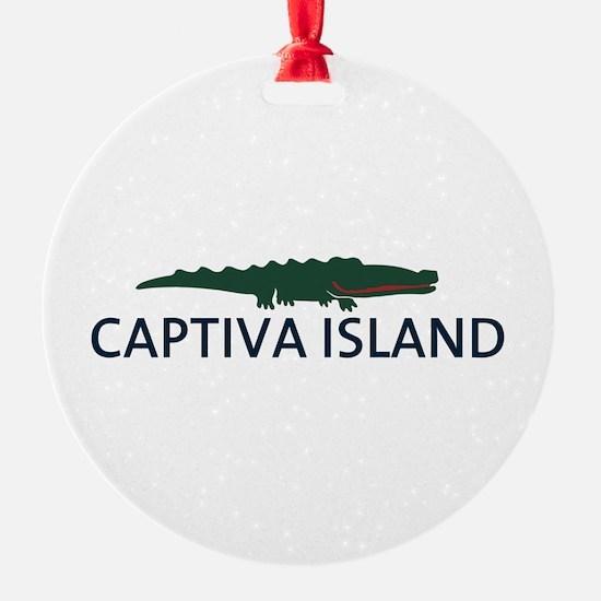 Captiva Island - Alligator Design. Ornament