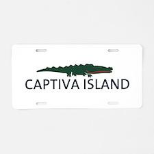 Captiva Island - Alligator Design. Aluminum Licens