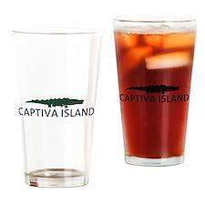 Captiva Island - Alligator Design. Drinking Glass