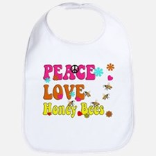 peace love honeybees Bib