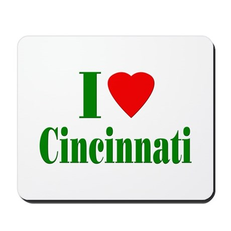 I Love Cincinnati Mousepad
