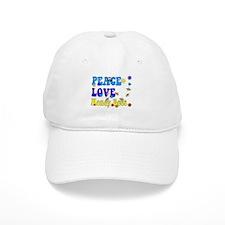 peace love honeybees 2 Baseball Baseball Cap