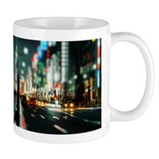 New york street at night Mug