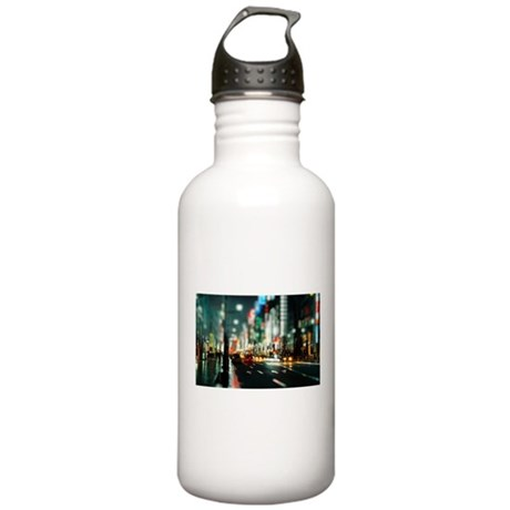 New york street at night Water Bottle