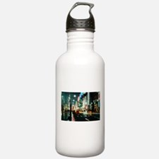 New york street at night Water Bottle