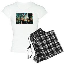 New york street at night Pajamas
