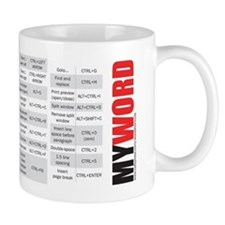 Word keyboard shortcuts Mug
