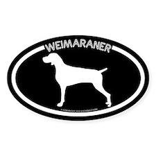 """Weimaraner"" Black Oval Bumper Stickers"