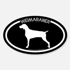 """""""Weimaraner"""" Black Oval Decal"""