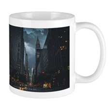 New York Chrysler building night Mug