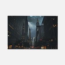New York Chrysler building night Rectangle Magnet