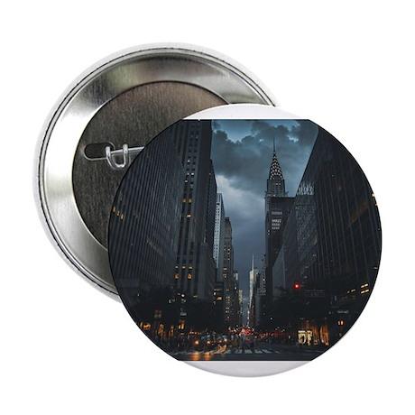 "New York Chrysler building night 2.25"" Button"
